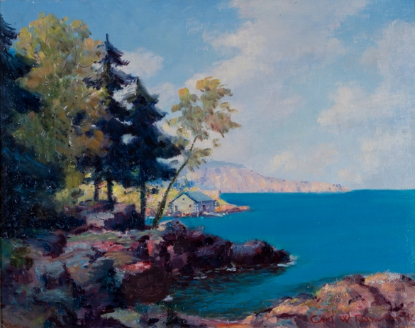 Carl Wendell Rawson Original Oil Painting Northshore Minnesota