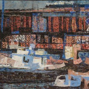 Elof Wedin Ore Docks Painting