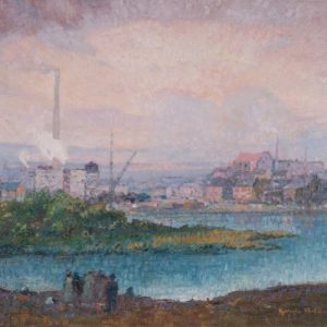 Knute Heldner View of Duluth Painting