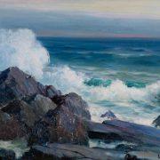 Seascape Painting Minnesota Artist Duluth Leon Lundmark Oil