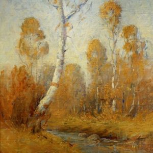 Edwin Dawes Birch Trees in Fall