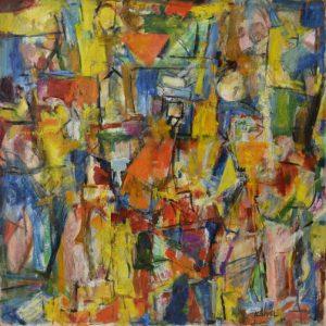 Hugh Kappel  Enthroned 1963-64 Oil on canvas