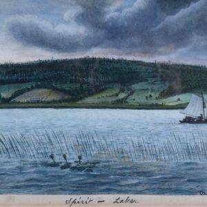 David Ericson Spirit Lake Watercolor