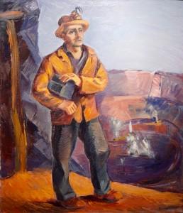 Dewey Albinson Hibbing Miner Painting WPA