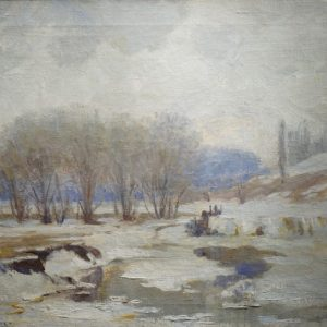 Nicholas Richard Brewer Winter Landscape Painting