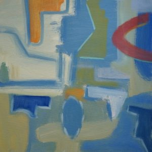 Malcolm Myers Vertical Abstract painting