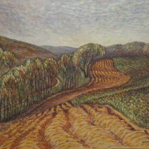 Wanda Gag Watercolor Ploughed Fields