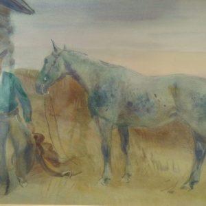 Cameron Booth Horse Gouache