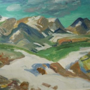 Cameron Booth Painting Mountain Landscape