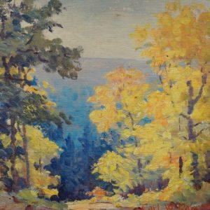 Carl Rawson Autumnal Landscape Painting