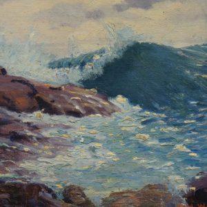 Carl Rawson Lake Superior Shore Painting