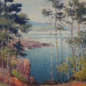 Carl Rawson Lake Superior Vista Painting