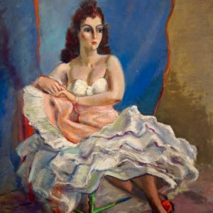 Clement Haupers Ballerina Resting Painting