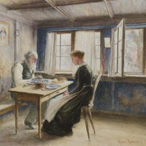 Robert Koehler Painting Frugal Meal