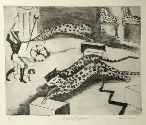 Clara Mairs Leaping Leopards