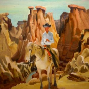 cameron-booth-cowboy-in-badlands-painting