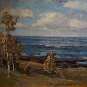 knute-heldner-birch-trees-before-sea