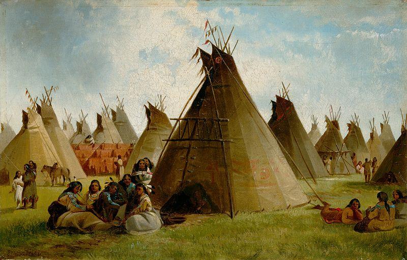 File:John Mix Stanley - Prairie Indian Encampment.jpg