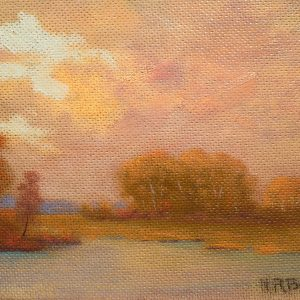 IMG_0337_Brewer_Pond Yellow Trees Pink Sky
